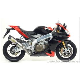 ARROW APRILIA RSV 4 '09 / TUONO V4R '11 STAINLESS STEEL HOMOLOGATED CATALYZED MID-PIPE FOR STOCK COLLECTORS