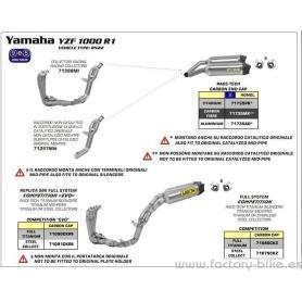 ARROW YAMAHA YZF R1 '09-10 STAINLESS STEEL COLLECTORS 4:2:1:2 FOR ARROW SILENCER
