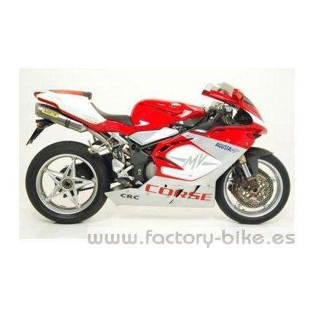 ARROW MV AGUSTA F4 1000 '04-'06 2:1:2 STAINLESS STEEL MID-PIPE FOR STOCK COLLECTORS