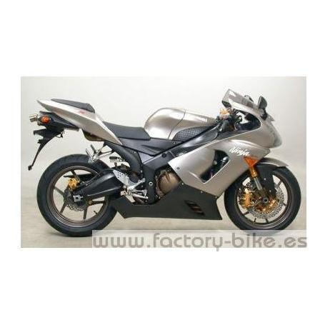 ARROW KAWASAKI ZX-6R- (636) '05 STAINLESS STEEL CENTRAL MID-PIPE FOR ARROW AND STOCK COLLECTORS