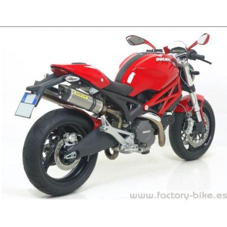 ARROW DUCATI MONSTER 696 '08-10/1100 '09-10 CARBON RIGHT & LEFT THUNDER RACING SILENCERS FOR STOCK COLLECOTRS