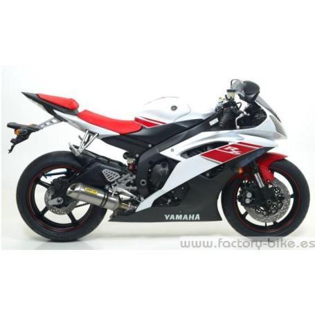 ARROW YAMAHA YZF R6'08 FULL SYSTEM COMP.WITH DB-KILLER AND CARBON END-CAP(TITANIUM SILENCER & MID-PIPE+STEEL COLLECTORS)