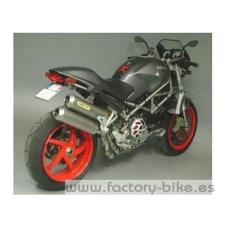 ARROW DUCATI MONSTER S4R '03-'05/ S2R '05/ S4 RS '06 UPPER AND LOWER CARBY EXHAUST WITH CARBON END CAP