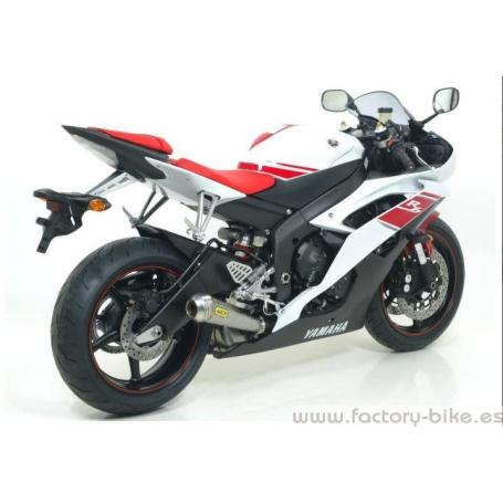 ARROW YAMAHA YZF R6 '08/10 GP2 RACING TITANIUM SILENCER AND STAINLESS STEEL MID-PIPE