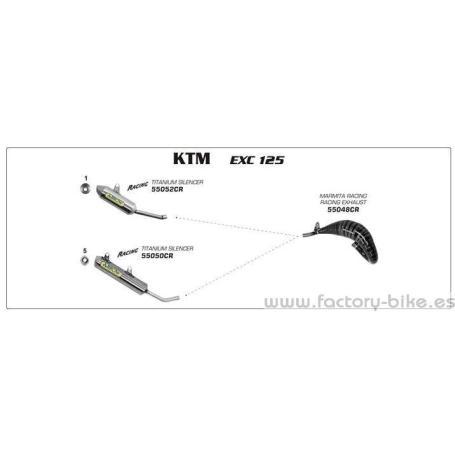ARROW KTM EXC/SX 125/150 '08-10 TITANIUM SILENCER FOR ARROW AND ORIGINAL EXHAUST