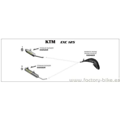 ARROW KTM EXC 125 '08/09 TITANIUM MINITHUNDER SILENCER