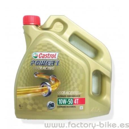 ACEITE CASTROL POWER 1 RACING 10W50 4T 4L