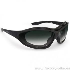 SUNGLASSES BERTONI RUBBER BLACK SMOKED