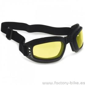 SUNGLASSES BERTONI RUBBER BLACK LENS YELLOW
