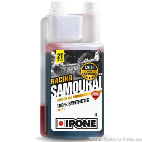 IPONE ACEITE MEZCLA 2T SAMOURAI RACING 100% SYNTHETIC