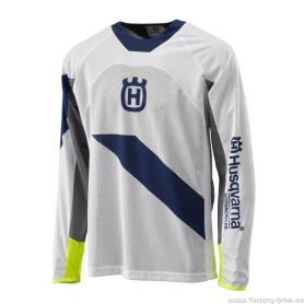 CAMISETA HUSQVARNA RAILED BLANCA