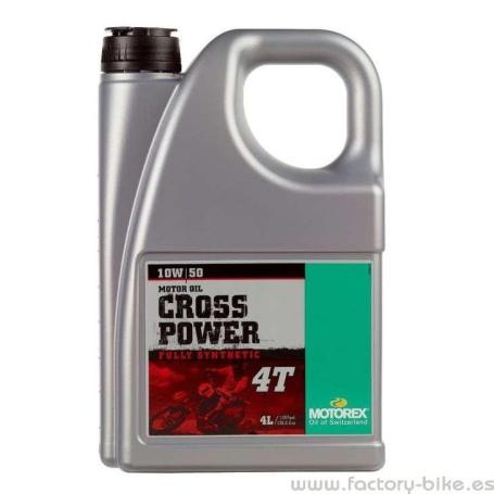 Aceite motorex Cross Power 4T 10w50 4 litros
