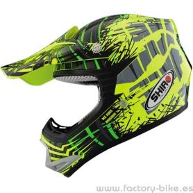 Helmet Shiro child MX306 Brigade Kid yellow/Green