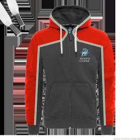 CAÇADORA MV AGUSTA REPARTO CORSE ZIP-UP HOODIE REDE/DARK GREY