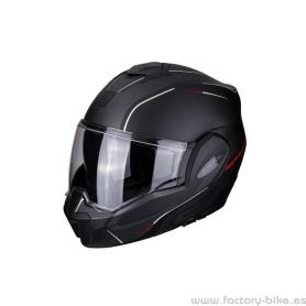 CASCO SCORPION EXO TECH OFF NEGRO MATE CON ROJO