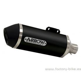 copy of Escape Arrow Race-Tech en aluminio con punta en inox negro Piaggio Vespa GTS 08-15