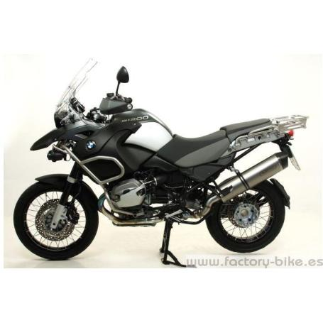 ARROW BMW R 1200 GS '10 HOMOLOGATED ALUMINIUM MAXI RACE-TECH SILENCER WITH CARBON END- CAP FOR ORIGINAL MID-PIPE