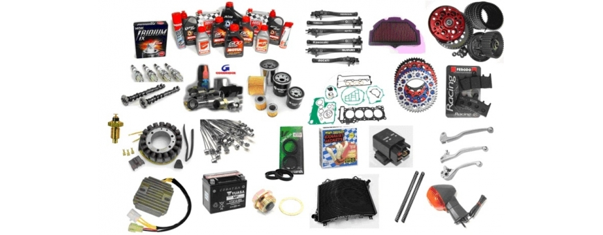 Spare parts and parts for motorcycle. Original, quality and the best price